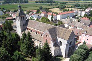 Eglise Saint Marcel - 71 - Vue aérienne