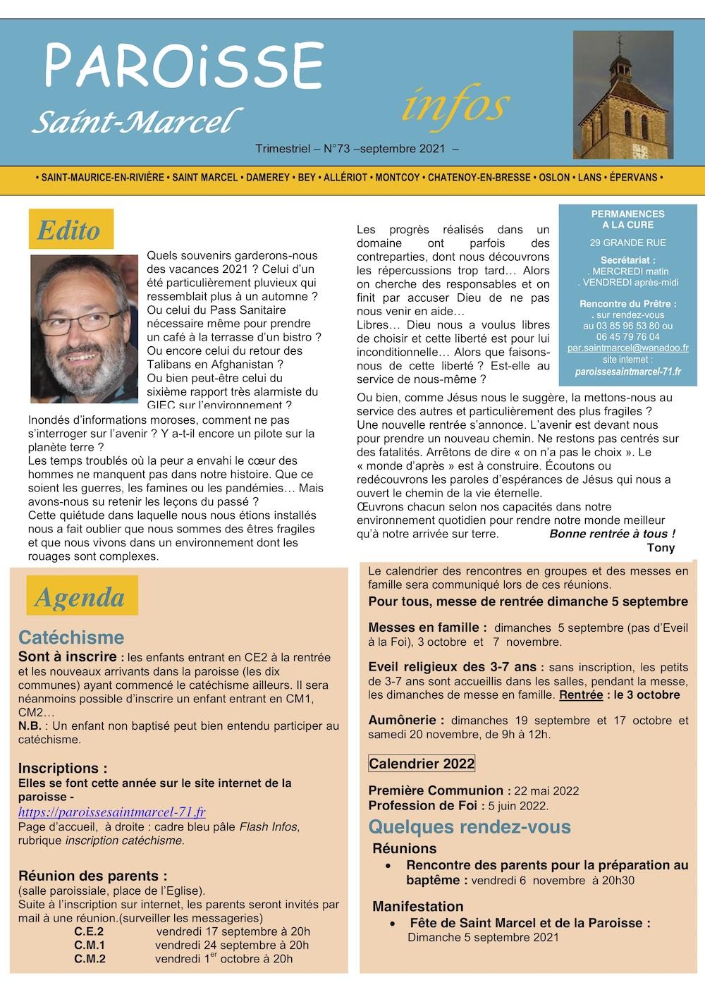 Edito - Paroisse infos 09-2021 - p1