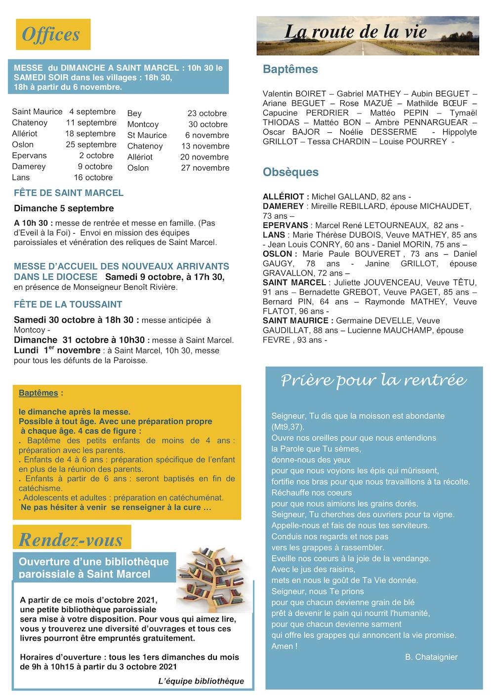 Edito - Paroisse infos 09-2021 - p2